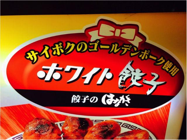 ホワイト餃子ラーメン