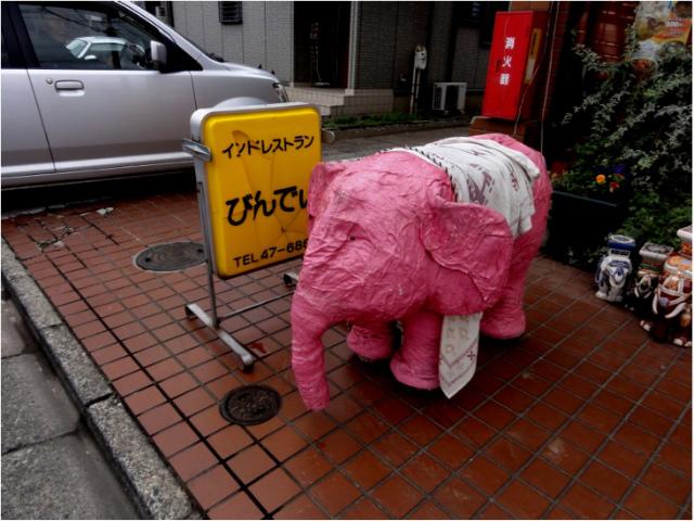 ピンクの像