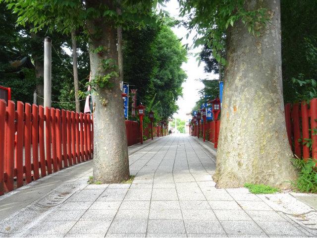 川越八幡宮参道