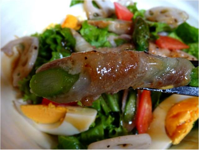 アスパラベーコン巻きサラダご飯