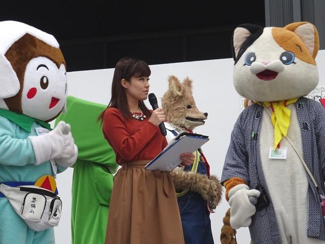 かわごえ産業フェスタで大野ひろみさんと一緒に司会♪