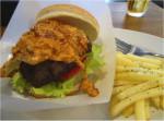 オリジナルミートソースのハンバーガー
